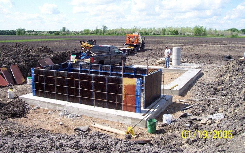 Installing a generator and building foundation